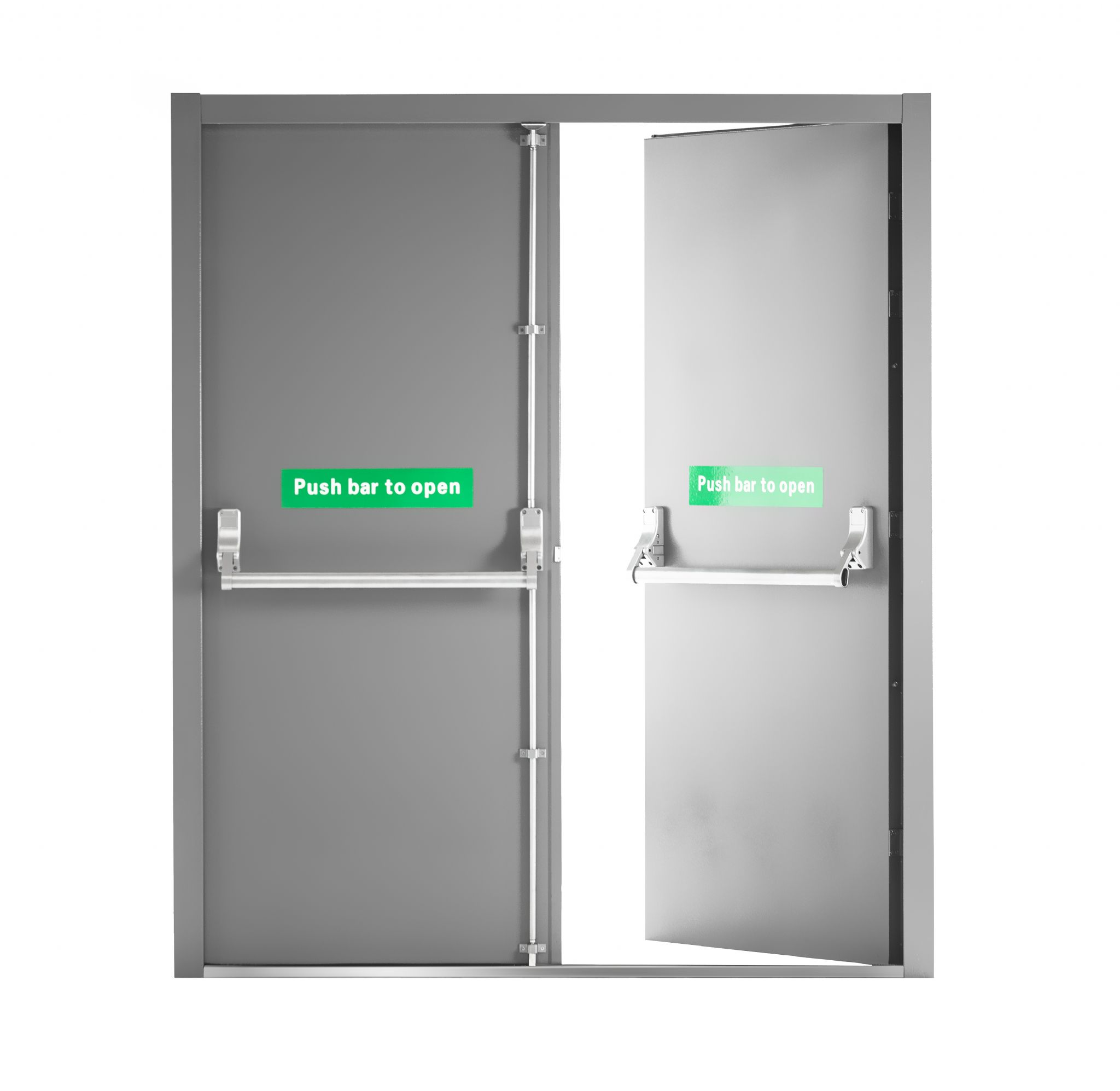 Ce Rated Double Fire Exit Door With Panic Bar By Npm Sinoph